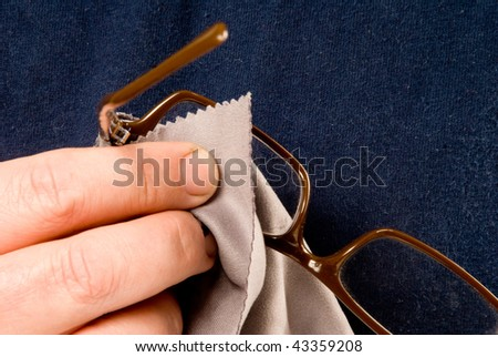 Cleaning Glasses - stock photo