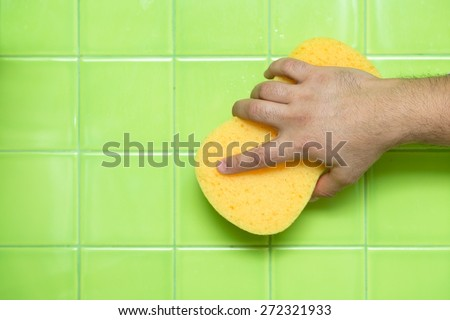 Cleaning, House, Tile. - stock photo