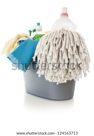 Cleaning items - stock photo