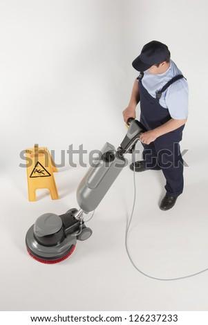 cleaning machine - stock photo