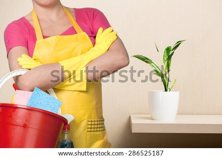 Cleaning, Maid, Women. - stock photo