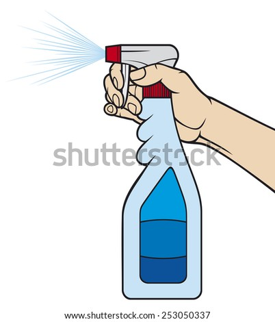 cleaning spray bottle - stock photo
