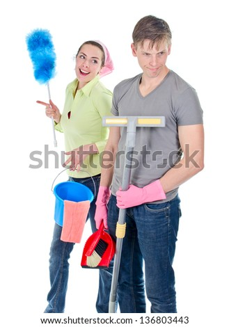 Cleaning team - stock photo