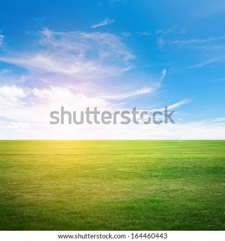 Clear beauty landscape. Summer background - stock photo