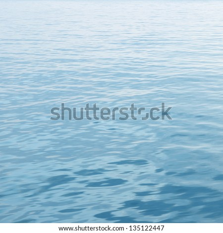 clear blue sea with waves - stock photo