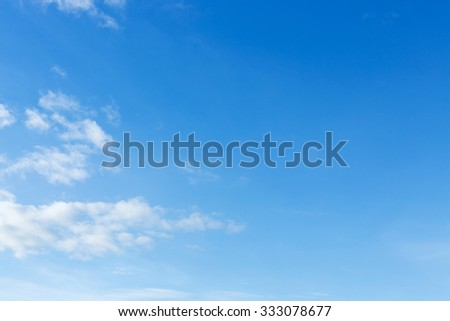 clear blue sky and white cloud, natural background - stock photo