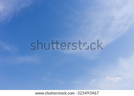 clear blue sky background with wind blowing cloud - stock photo