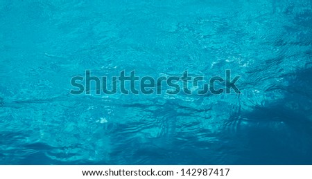 Clear fresh rippled blue water abstract background - stock photo