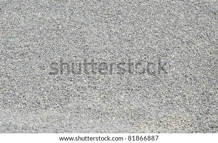 clear gravel - stock photo