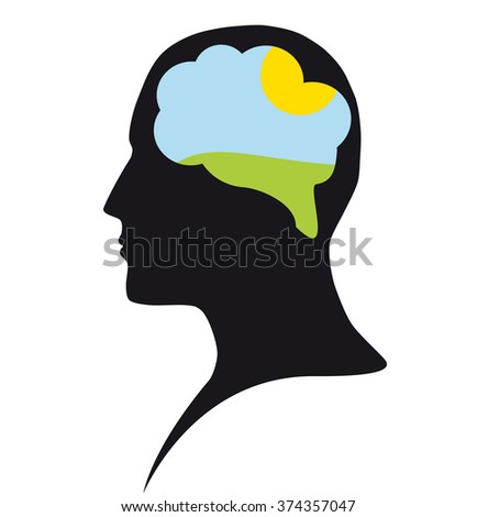 Clear mind - stock photo
