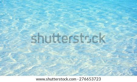 Clear ocean water, in resort - stock photo