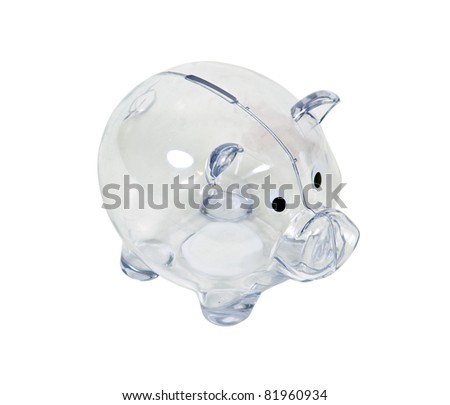 Clear Piggy Bank Clear Piggy Bank Used to Save