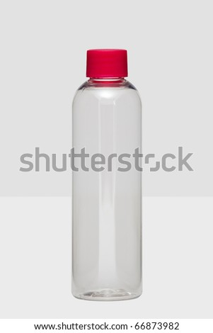Clear plastic bottle - stock photo