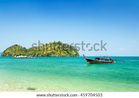 Clear sea in Thailand - stock photo