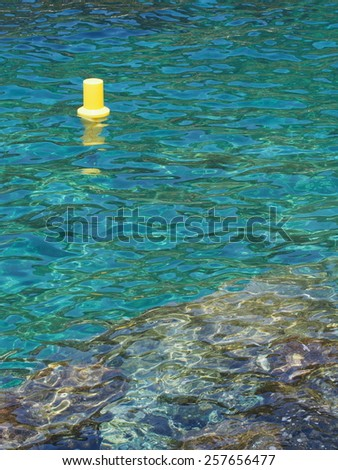 Clear sea water of the Mediterranean sea - stock photo