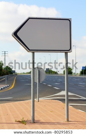 clear signpost - stock photo