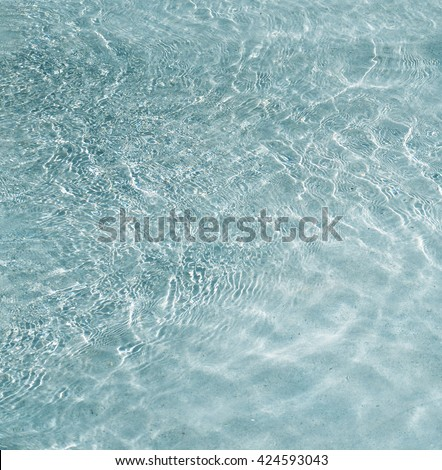 clear water with wave, island beach close up , summer theme background - stock photo