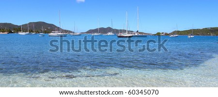 Clear waters off Tortola - British Virgin Islands - stock photo