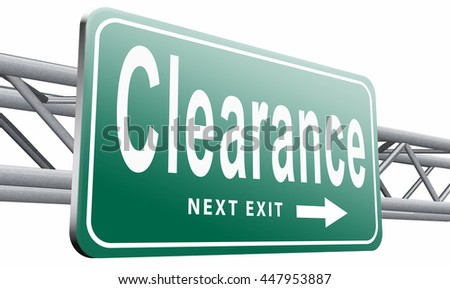 clearance grand sale sales and reduced prices % off authorization granted or denied by bill computer and information security, 3D illustration isolated on white. - stock photo