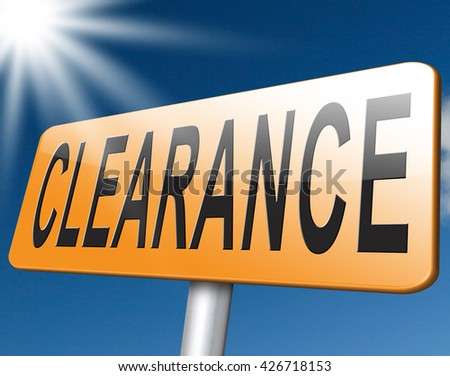 clearance grand sale, sales and reduced prices road sign billboard. - stock photo