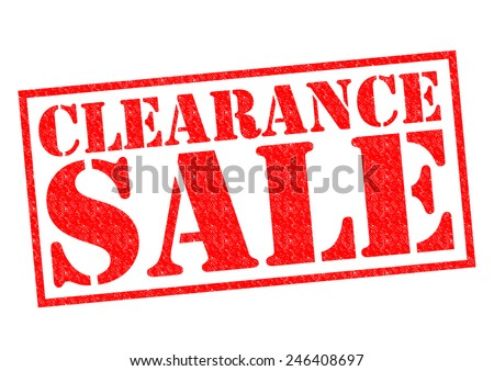CLEARANCE SALE red Rubber Stamp over a white background. - stock photo