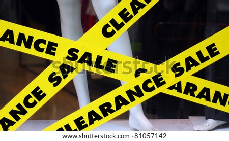 Clearance Sale sign on shop. - stock photo