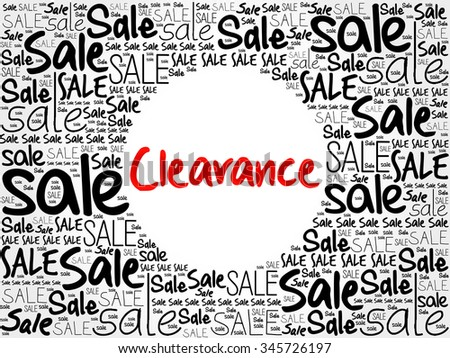 Clearance word cloud background, business concept - stock photo