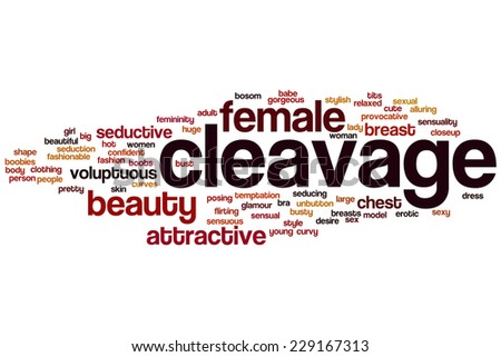 Cleavage word cloud concept - stock photo