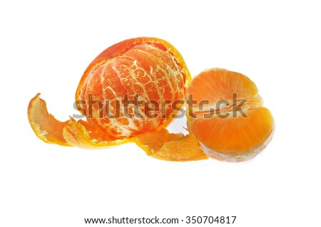 clementine isolated on white - stock photo