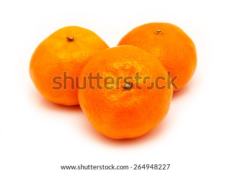 clementines isolated on a white background - stock photo