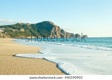 Cleopatra Beach (Kleopatra Beach) in Alanya, Turkey - stock photo