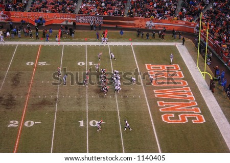 Cleveland Browns vs Baltimore Ravens - stock photo