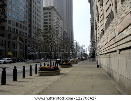 CLEVELAND, OH - NOVEMBER 14: The Federal Reserve Bank of Cleveland announced on November 14, 2012 in Cleveland, OH that banking rules should be consistent over time. - stock photo