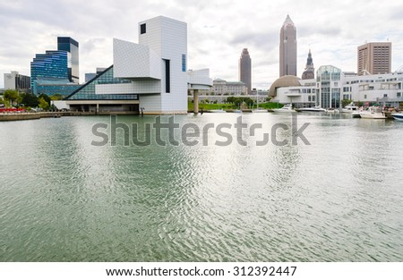 Cleveland skyline - stock photo
