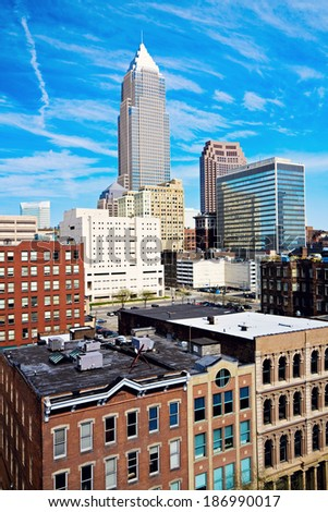 Cleveland vista - seen late afternoon. - stock photo
