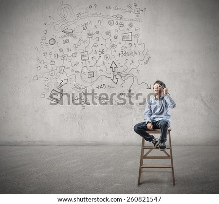 Clever mind  - stock photo