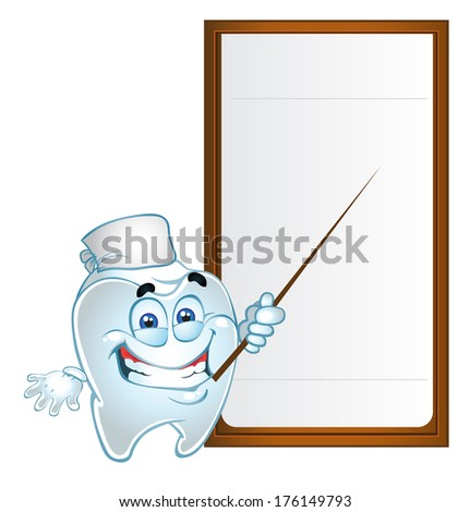 Clever tooth with text area - stock photo