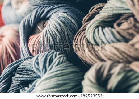Clew of yarn for knitting - stock photo