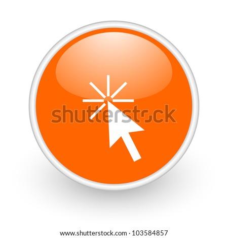 click here icon - stock photo