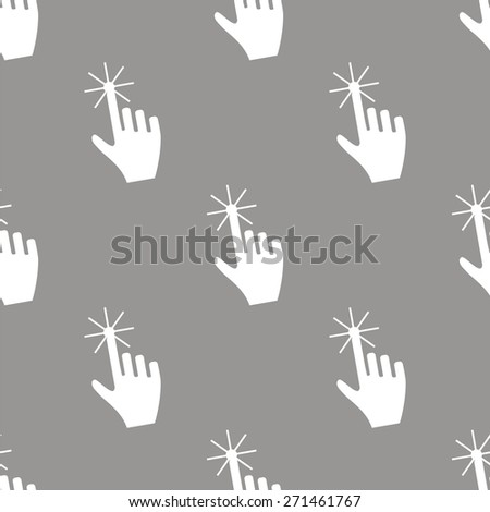 Click white and black seamless pattern for web design - stock photo
