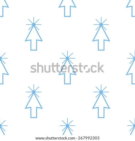 Click white and blue seamless pattern for web design - stock photo