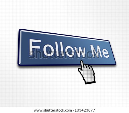 Clicked Follow Me Button Illustration for Social Media - stock photo