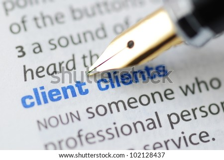 Client - Dictionary Series - stock photo