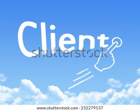 client message cloud shape  - stock photo