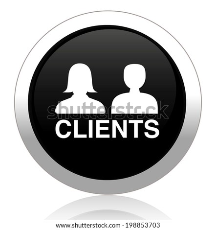 Clients glossy reflected  button - stock photo