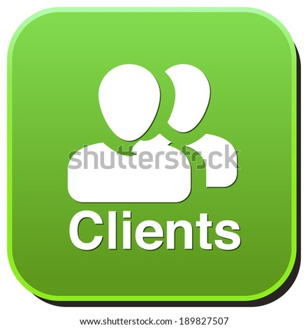 Clients icon - stock photo