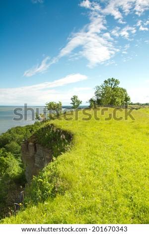 cliff above the sea. scenic spots in nature.  - stock photo