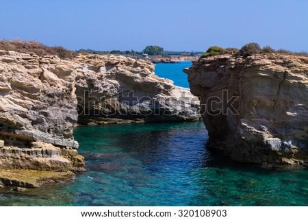 Cliff of Syracuse - Sicily holidays - stock photo