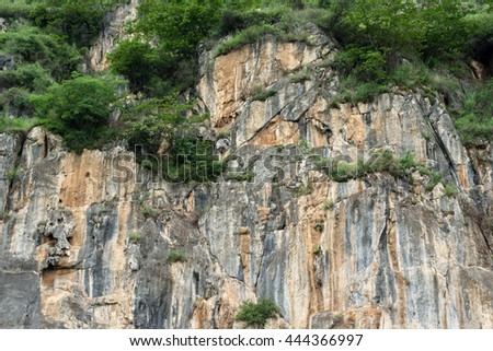 Cliff Wall - stock photo