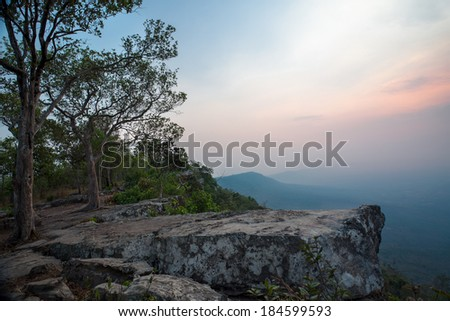 Cliff with Light of the sun (Thailand) - stock photo